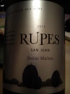 Callia Rupes San Juan Shiraz Malbec 2012