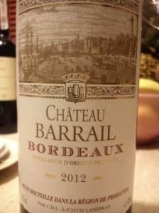 Chateau Barrail Bordeaux 2012