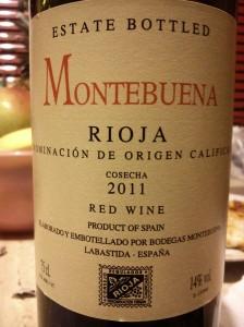 Montebuena Rioja D. O. C. 2012