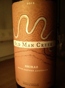 Old Man Creek Shiraz South Eastern Australia 2012
