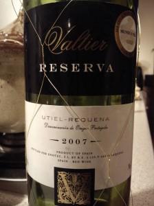 Valtier Reserva Utiel-Requena D. O. P. 2007