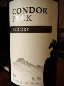 Condor Peak red Dry Mendoza Argentina