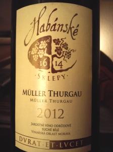 Müller-Thurgau 2012 Habánské Sklepy
