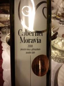 Cabernet Morvia 2008 jakostní víno s přívlastkem pozdní sběr Vinařství Plešingr