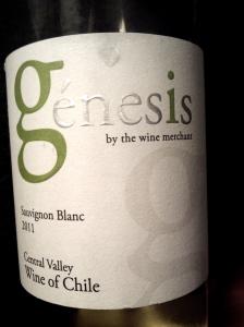 Génesis Sauvignon Blanc 2011 Central Valley