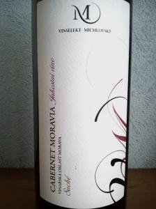Cabernet Moravia 2010 jakostní víno odrůdové suche Vinselekt Michlovský