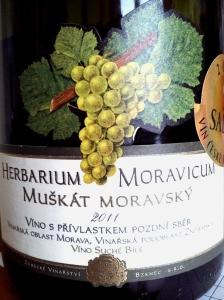 Herbarium Moravicum Muškát Moravský víno s přívlastkem pozdní sběr 2011