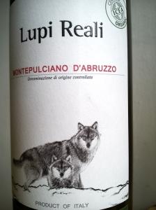 ~  Lupi Reali Montepulciano d'Abruzzo 2012 DOC
