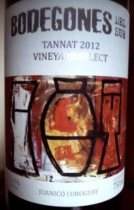 Bodegones del Sur Tannat 2012 Vineyard Select Juanicó Uruguay