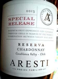 Aresti Chardonnay Reserva Special Release Casablanca Valley 2013