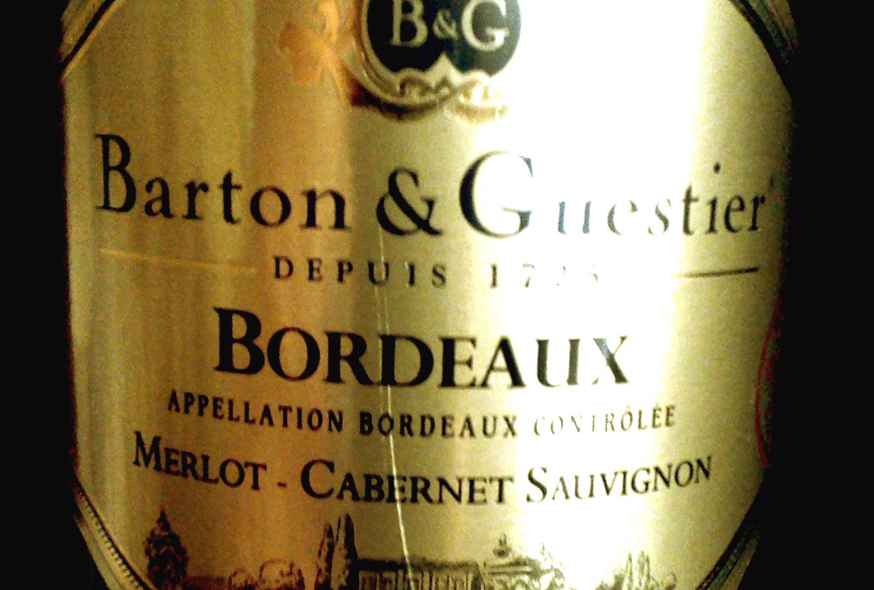 Barton & Guestier Merlot – Cabernet Sauvignon Bordeaux 2010