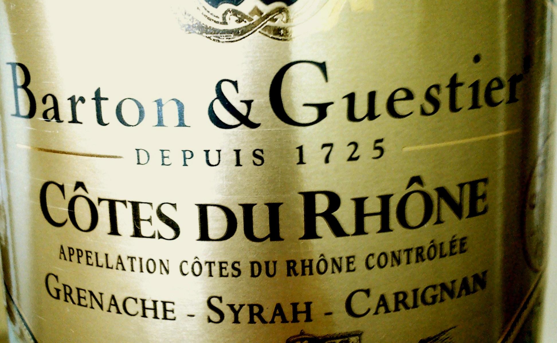 Barton & Guestier Grenache – Syrah – Carignan Côtes du Rhône 2010