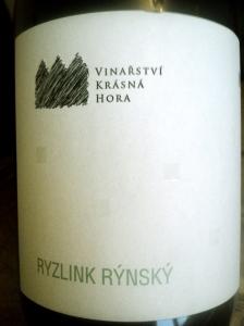 Vinařství Krásná hora Ryzlink R ýnský 2012