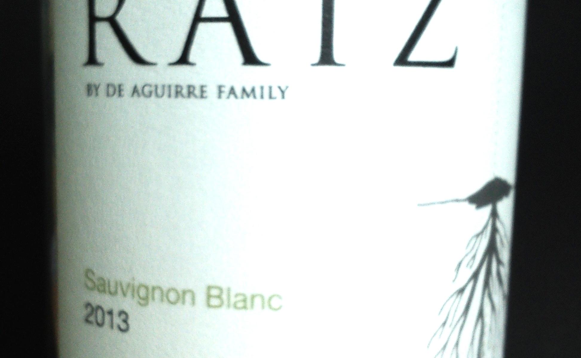 Raiz by De Augirre Family Sauvignon Blanc Maule Valley 2013