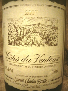 Côtes du Ventoux  AOC 2007