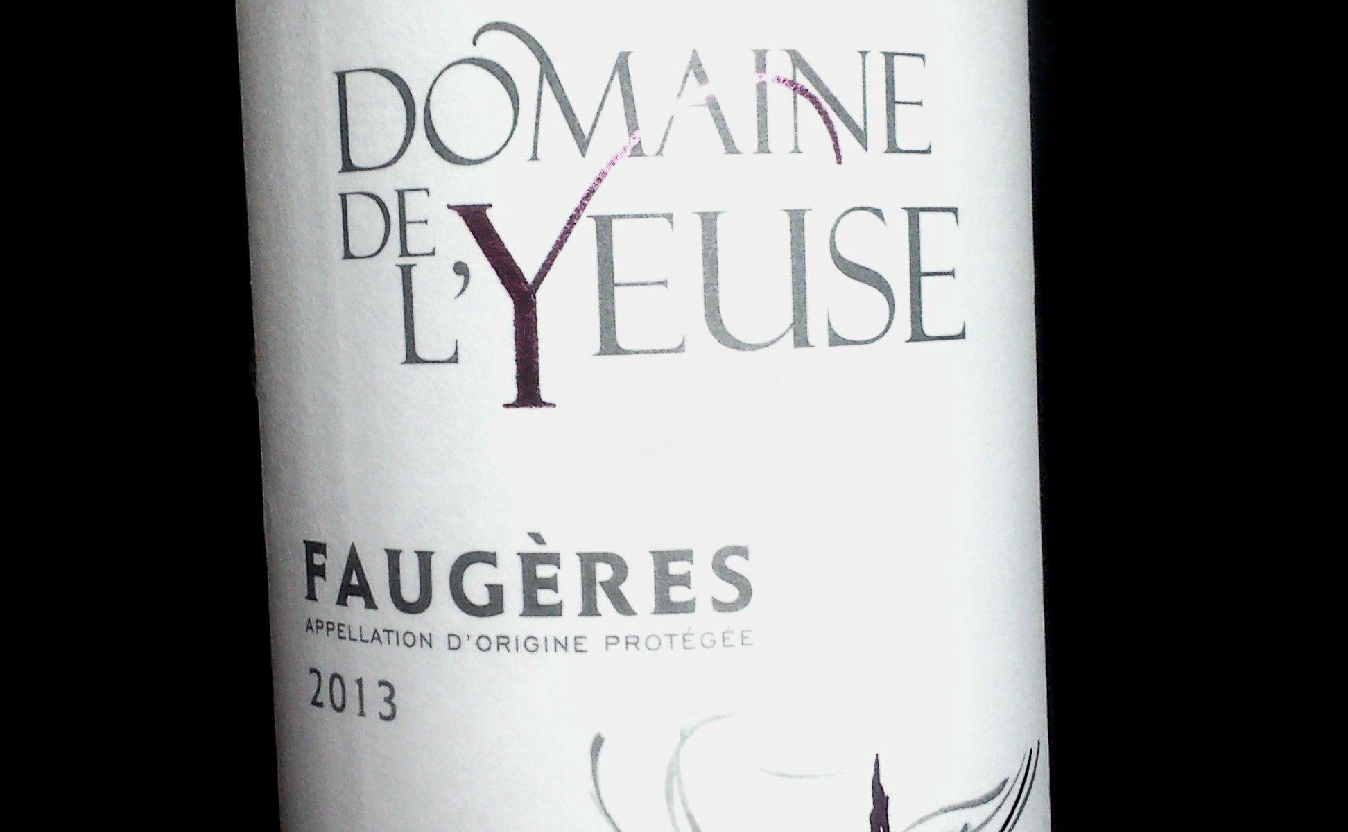 Domaine de l'Yeuse Faugères AOC 2013