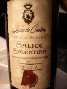 Salice Salentino Riserva Rosso DOC 2011
