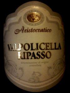 Aristocratico Valpolicella Ripasso DOC 2012