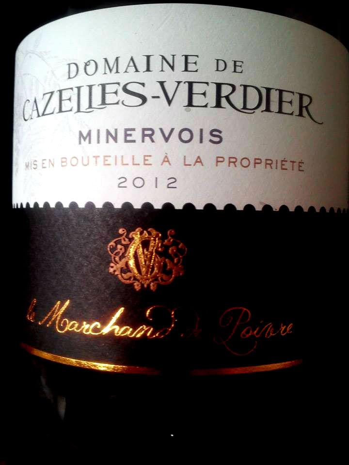 Domaine de Cazelles-Verdier Minervois A.O.P 2012