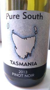 pure south tasmania pinot noir 2013