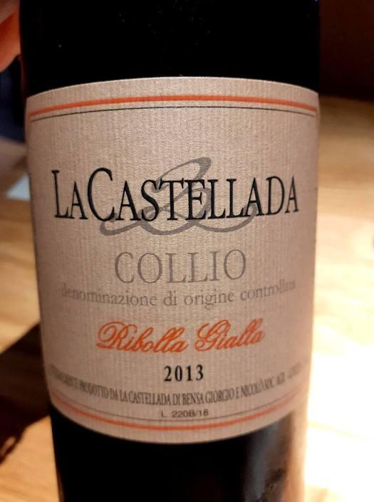 La Castellada Ribolla Gialla Collio DOC 2013