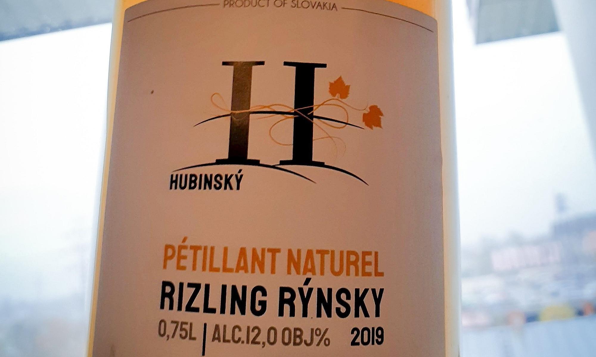 Hubinský Rizling Rýnsky Pétillant Naturel 2019