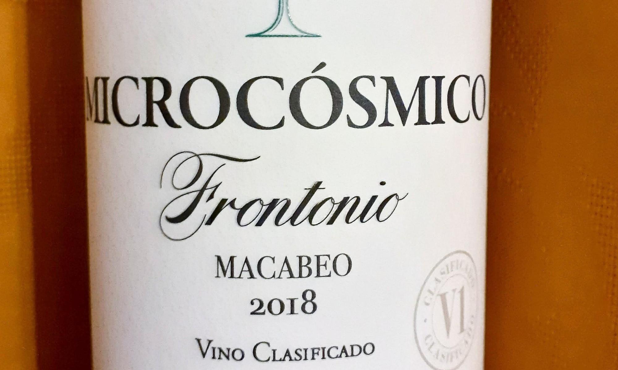 Bodegas Frontonio Microcósmico Macabeo Valdejalón IGP 2018